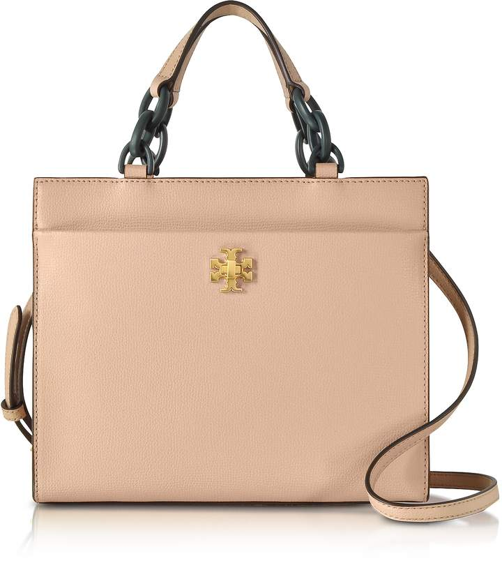 Tory Burch Kira Leather Small Tote Bag - SAND - STYLE