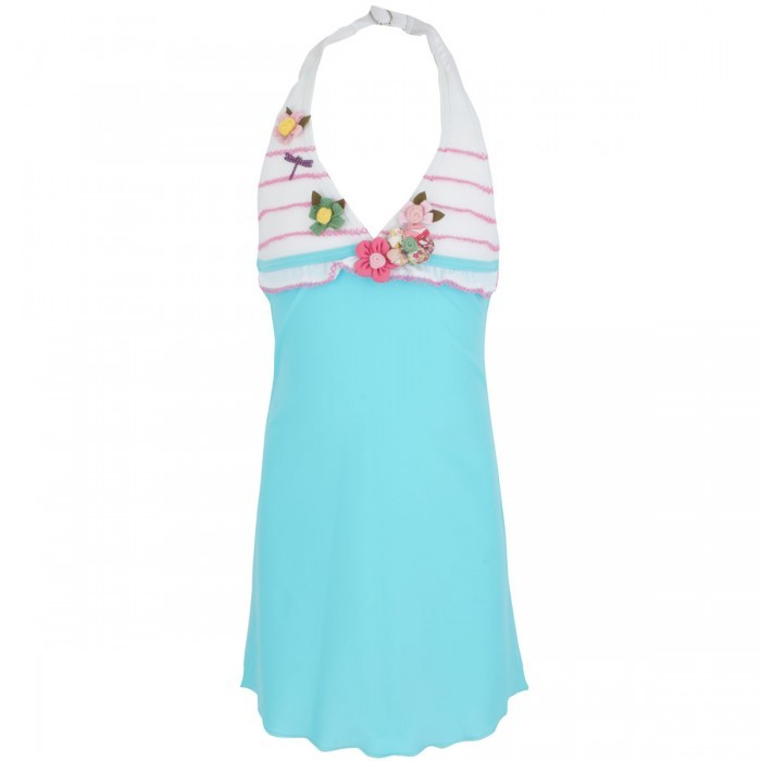 Pate De Sable Turquoise Evidence Beach Dress
