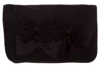Juicy Couture Bow-Embellished Large Clutch