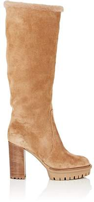 Gianvito Rossi Women's Suede & Shearling Knee Boots