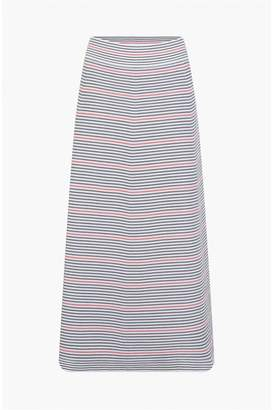 Sonia Rykiel Striped Milano Knit Maxi Skirt