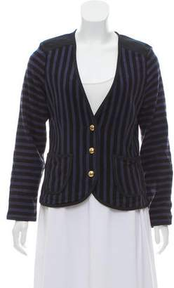 Marc by Marc Jacobs Collarless Striped Blazer