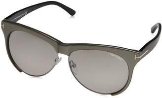 Tom Ford FT0365 38G Leona Shiny Grey / Grey Mirror Sunglasses