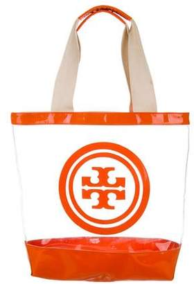 Tory Burch Leather-Trimmed Logo Tote