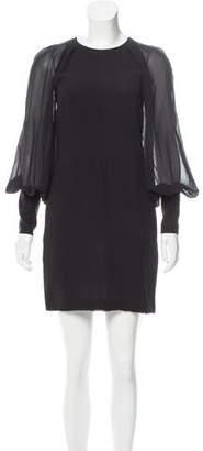 Martin Grant Silk Chiffon Long Sleeve Dress