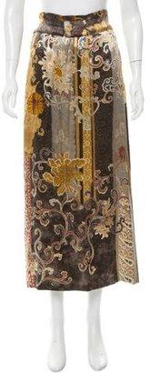 Etro Satin Printed Skirt $85 thestylecure.com