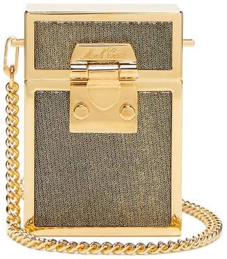 Mark Cross Nicole Moire And Gold Plated Cross Body Bag - Womens - Gold