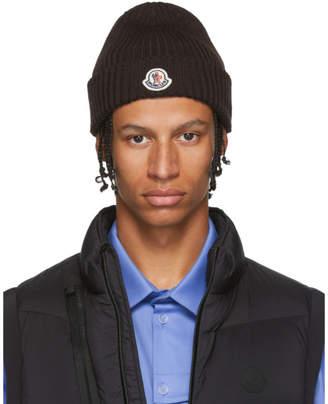 Moncler Brown Knit Beanie
