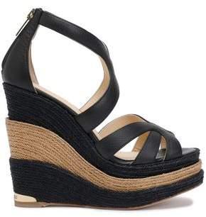 Paloma Barceló Leather Espadrille Wedge Sandals