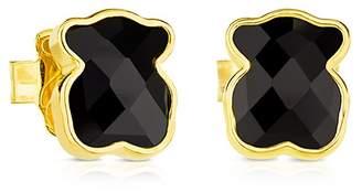 Tous Mini Black Onyx Bear Stud Earrings
