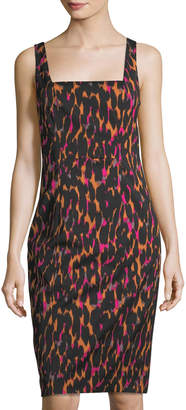 Trina Turk Bewitching Leopard-Print Sheath Dress