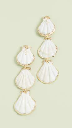 Mercedes Salazar 3 Shell Linear Drop Earrings