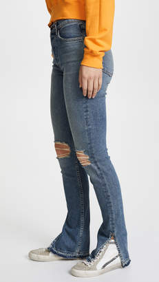 Cotton Citizen The High Rise Split Skinny Jeans