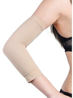 Unique Bargains Stretchy One Size Compression Arm Shaper Sleeves Wrap for Women