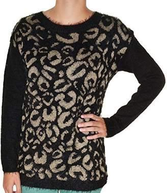 Joseph A Womens Pullover Eyelash Sweater XXL Print