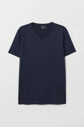 H&M Premium Cotton T-shirt - Blue