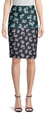 Yigal Azrouel Floral-Print Scuba Pencil Skirt