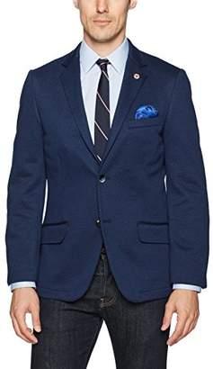 Ben Sherman Men's Two Button Slim Fit Diamond Texture Stretch Blazer
