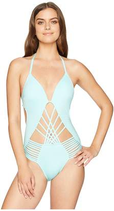 Kenneth Cole Sexy Solids Push-Up One-Piece Women's Swimsuits One Piece