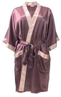 Ouihours Manito Silk Short Silk Kimono Robe