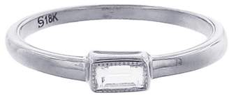 Couture Sethi Baguette Solitaire Diamond Ring - White Gold