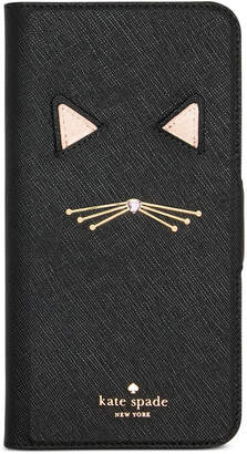 Kate Spade Cat Applique iPhone 8 Plus Folio Case