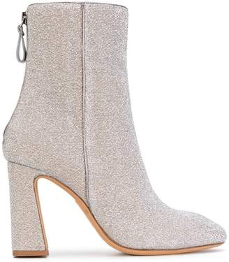 Alexandre Birman metallic heeled ankle boots
