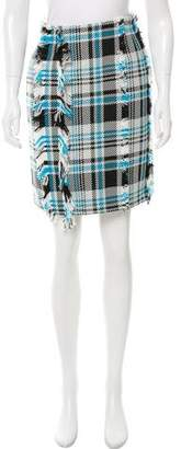 Creatures of the Wind Fringe Plaid Skirt