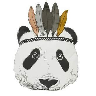 Isa Belle Isabelle & Max Zayd Panda Kids Round Cotton Throw Pillow Isabelle & Max