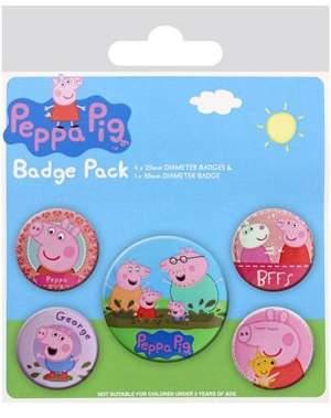 Peppa Pig Badge Pack, One Size