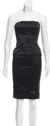 Just Cavalli Strapless Satin Dress