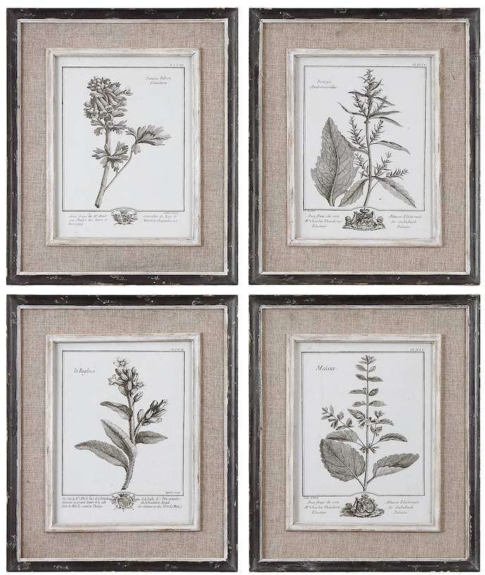 Uttermost 4-pc. Casual Grey Study Framed Wall Art Set