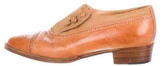 Ralph Lauren Leather Round-Toe Oxfords