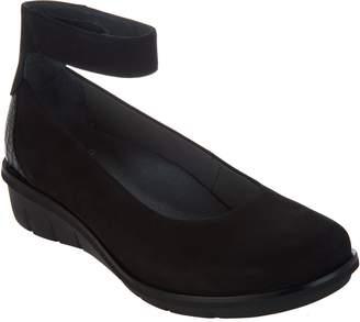 Dansko Leather Slip-on Shoes w/ Ankle Strap - Jenna