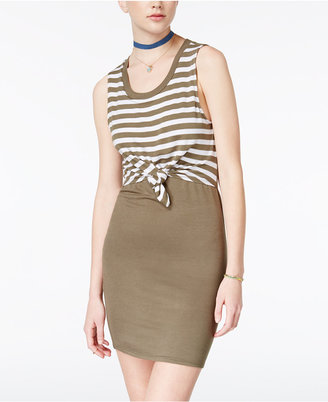 Planet Gold Tie-Waist Bodycon Dress $39 thestylecure.com