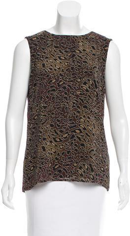Tory BurchTory Burch Silk Printed Sleeveless Top