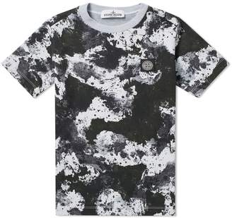 Stone Island Junior Garment Dyed Camouflage Tee