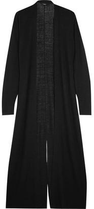 Theory - Torina Split-back Linen-blend Cardigan - Black $385 thestylecure.com