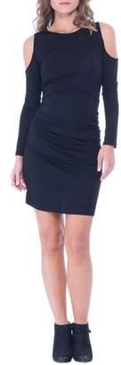Olian Cold Shoulder Ruched Sheath Dress