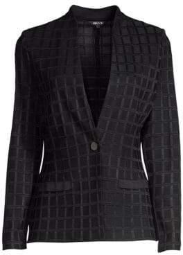Misook Grid Texture Blazer