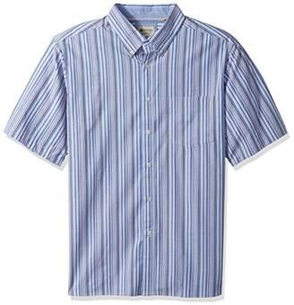 Haggar Men's Big Tall Short Sleeve Poplin Woven Shirt