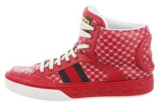 Gucci Dapper Dan High-Top Sneakers