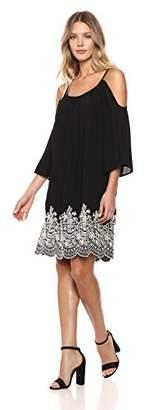 Karen Kane Women's Embroidered Cold Shoulder Dress