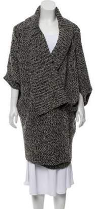 Stella McCartney Oversize Wool & Alpaca Cardigan Grey Oversize Wool & Alpaca Cardigan