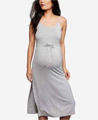 BB Dakota Maternity Drawstring Midi Dress