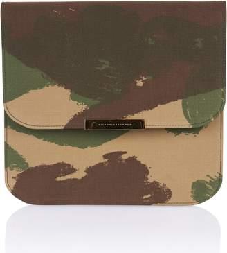 05ed987680e Victoria Beckham Flat Eva Camo Leather Crossbody Bag