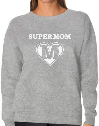 DAY Birger et Mikkelsen TeeStars Super Mom Shield - Mother's Gifts Superhero Mother Women Sweatshirt