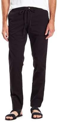 Velvet Solid Drawstring Woven Pants
