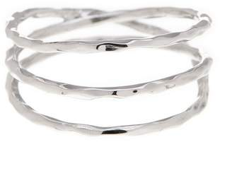 Sterling Forever Sterling Silver Textured Triple Ring