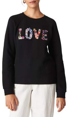 Whistles Love Embroidered Sweatshirt